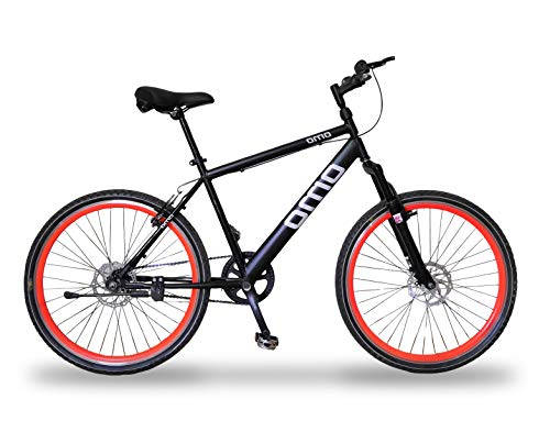 Omobikes Manali G.1 | Lightweight | Fast Light Weight Hybrid Cycle with Alloy Rims, Anti Rust Frame | Orange