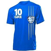 Griechenland Fussball Fanshirt Fan Shirt tshirt Fanartikel Artikel Männer  Herren T-Shirts e94f3da5e1b