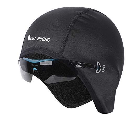 WESTGIRL Fahrrad Mütze, Skull Cap Bike Warm Cap für Herren Damen, Winddicht Thermal Fleece Atmungsaktiv, Wintersport Mütze Kopfbedeckung für Laufen, Radfahren, Skifahren