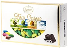 Idea Regalo - Buratti Confetti al Cioccolato, Estate - 2 Confezioni da 1000 g