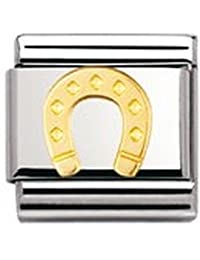 Nomination Composable Classic GOOD LUCK Edelstahl und 18K-Gold (Hufeisen) 030115