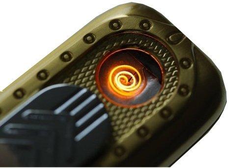-WELTNEUHEIT- Designer USB Feuerzeug: Gl&uumlhspirale, ben&oumltigt kein Gas und kein Benzin, wird durch USB aufgeladen in Gold (Gold)