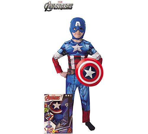 Kinder Schild America Captain Mit Kostüm - Rubie s it620551-s-Kostüm Captain America mit Schild
