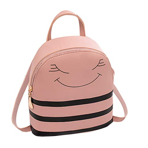 Bfmyxgs Mother es Day Girl Smiley Headphone Hole Backpack Slung Shoulder Bags Mobile Phone Purse Totes Chest Package Totes Handbag Waist Bag Rucksack Coin Bag