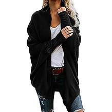 DEELIN Nouveau Mode Casual Femmes Chandail Cardigan Outwear À Manches  Longues Lâche Solide Couleur Tricot Manteau 0bdab0e77ac7