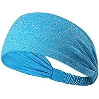 Fansi 1 Stück Mode Elastisch Sport Stirnband Damen Herren Schweißbänder kopf Stirn Haarband Laufende Fitness Radfahren Yoga Outdoor-Sport Haarband