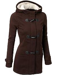 Mujer Invierno Abrigo Casual Sudadera con Capucha Chaqueta de Lana Capa Jacket  Parka Pullover 1f3097ff59bc