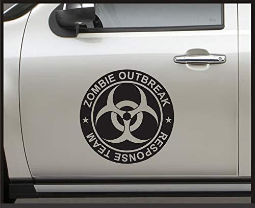 Celycasy Zombie Outbreak Response Team - Fahrzeugaufkleber Set für Jeep Wrangler, Aufkleber Fender Grafik, Walking Dead, TWD, Zombie Apokalypse Aufkleber