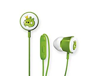 Gear4 Angry Birds Space Deluxe Tweeters In-Ear Stereo Headphones with In-Line Mic - King Pig