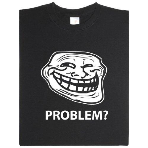 Trollface - Geek Shirt für Computerfreaks aus fair gehandelter Bio-Baumwolle Schwarz