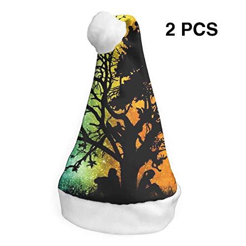 Weihnachtsmütze mit Weihnachtsmann-Mütze, verschiedene Baum, für Erwachsene, Kinder, -