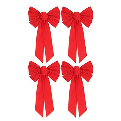 Kaever Decoración Lazo Terciopelo Rojo Navidad Decoración