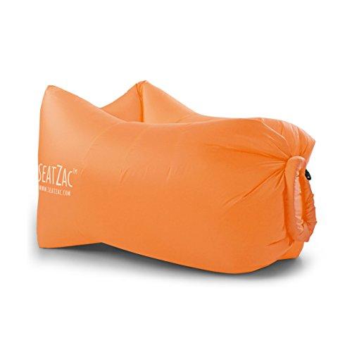 SeatZac ChillBag Polyester inkl Tragetasche orange Sitzsack Luftsack Luftsofa