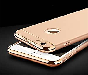 AUDOS *3-in-1 SHOCKPROOF* Dual Layer Thin Back Cover Case For Apple iPhone 6/6S (Champagne Gold with Gold)