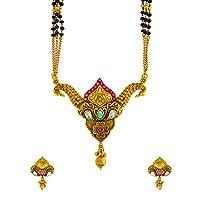 Anuradha Art Matte Gold Finish Designer Traditional/Maharashtrian Mangalutra for Women