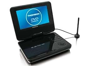 """Thomson DP700T Lecteur DVD Portable avec TNT Ecran LCD 7"""" USB Noir"""
