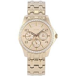 W0403L2 Guess Women's Watch Analogue Quartz Golden Dial Steel Bracelet-Gold