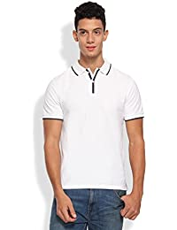 ARISE Solid Men's Polo T-Shirt - White