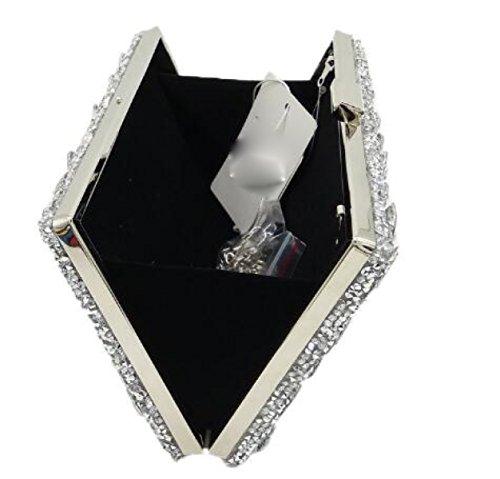 Nuovo Borsa Delle Signore Signore Diamante Borsa Colore Strass Foratura Calda Borsa Da Sera Mini Borse Da Banchetto Black