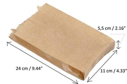 100x Kraft 10,2x 22,9cm-110x 55x 240mm Papier Geschenk Hochzeit Party Braun Merchandise Sack Papier-Staubsaugerbeutel Lunch Container Lebensmittel flach Craft Takeaway Sandwich - Papier-lebensmittel-container