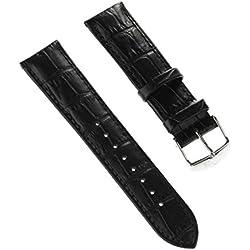 Lotus Bracelet de Montre Bracelet de Sport Matière Cuir Noir pour Lotus l18216, l18215Montres