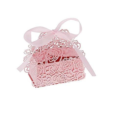 Yuver (TM) 12pcs Bonbonni¨¨re Cookie cadeau romantique Rose DIY Favor