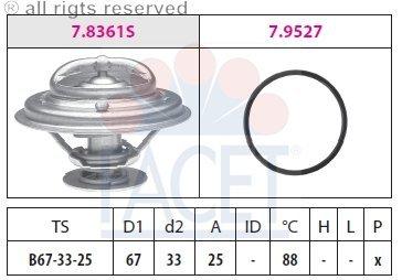 Facet 7.8361 Thermostat, Kühlmittel -