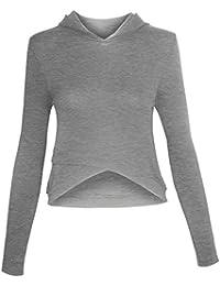 Sweatshirt à capuche pour les femmes avec fermeture à glissière
