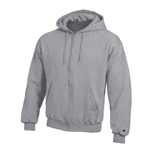 Champion Double Dry Action Fleece Full Zip Hood S Grey
