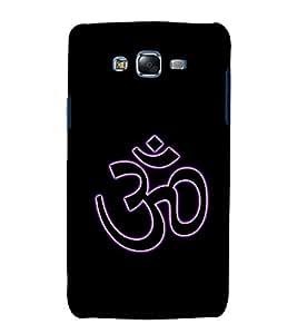Om Mantra logo 3D Hard Polycarbonate Designer Back Case Cover for Samsung Galaxy J7 (2015) :: Samsung Galaxy J7 J700F (Old Version)