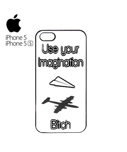 Use Your Imagination Bi*ch Mobile Phone Case Back Cover Coque Housse Etui Noir Blanc pour for iPhone 6 Plus White Blanc