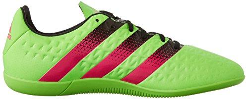 Adidas Performance Ace 16,3 Indoor Fu�ballschuh, schwarz / Schock Grün / Schock Rosa, 6,5 M Us Shock Green/Shock Pink/Black