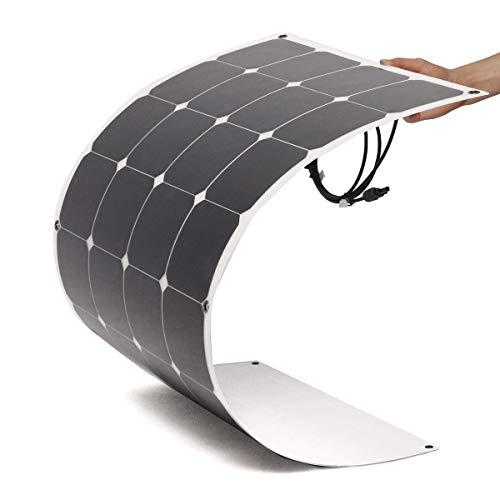 El panel solar flexible 100w monocristalino 12 voltios de WccSolar gracias a célula monocristaline para producir la máxima eficiencia solares ideal para utilizar en instalaciones solares de 12 voltios en autocaravanas, carvanas, furgonetas o en embar...