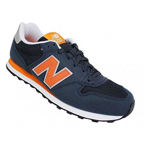 New Balance Gm500Mmn Calzatura, Uomo, Blu Marino/Arancione/Bianco, 45 Blu Marino/Arancione/Bianco