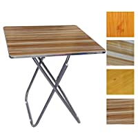 In-House Folded Table with Aluminum FramIn-House Folded Table with Aluminum Frame 60x60 cm Square, Assorted Color