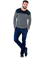Mabord rayé marine - T-shirt manches longues homme TERRE DE MARINS XXL MULTICOLOR