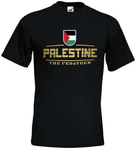 AkyTEX Palästina Palestine Fanshirt T-Shirt WM2018 Schwarz M