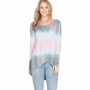 Lilicat Frauen Pulli Casual Sweatshirt Rundhals Elegant Langarmshirt Mode Pullover Tunique Damen Herbst Lose Hemd Einfarbig Coton Shirt Schick Oberteil Freizeit Tops