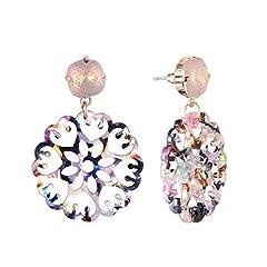 Idea Regalo - Orecchini Grandinuovo Bohemien Hollow Diamante Grande Crcle A Mano Avvolgimento Orecchini Femmina Promessa