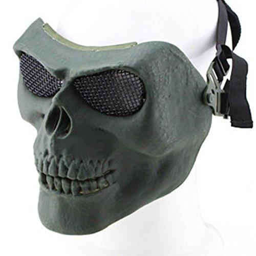 GODNECE Paintball Maske Kinder Maske Softair Schutzmaske Schädelhäuptling für Airsoft Halloween-Aktivitäten (Halloween Kinder Für Aktivitäten Für)