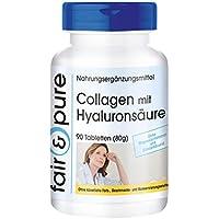 90 comprimidos vegetarianas de colágeno con ácido hialurónico y vitamina ...