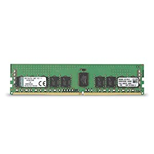 Kingston KVR24R17S4/8 Value RAM DDR4 8 GB DIMM CL17 ECC Memory, Green