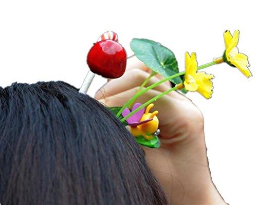 cuhair (TM) bébé fille cadeau Love Manga Lot mixte de chou de style design fleur herbe cheveux Barrettes Clip Broches Accessoires
