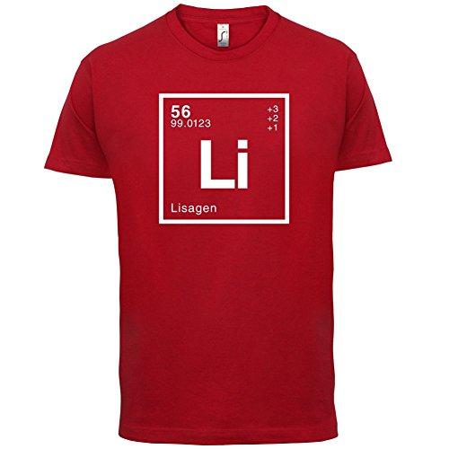Lisa Periodensystem - Herren T-Shirt - 13 Farben Rot