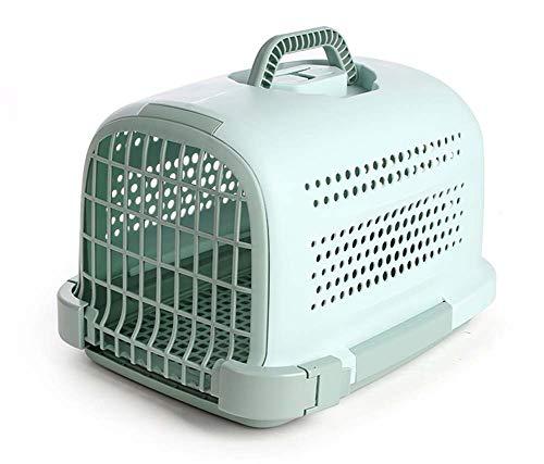 LHPT Pet Air Box Lufttransport Teddybär Hundekarton Ausflug Tragbarer Cat Air Cage-Green
