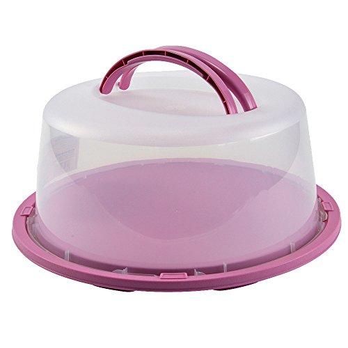 Transportbehälter Kuchen Torten Behälter Tortenhaube Kuchenhaube Tortenglocke rosa