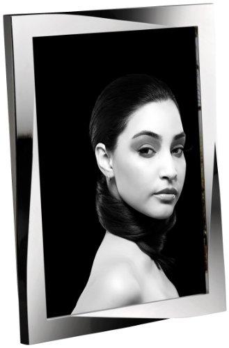 Mascagni m461 silver curve - portafoto in metallo lucido, multitono, 20 x 25 cm