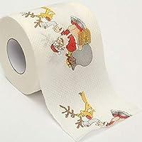 PoeHXtyy 1 Rollo de Feliz Navidad Papá Noel Papel higiénico Servilleta Broma Diversión Fiesta de cumpleaños Regalo de la Novedad Decoración