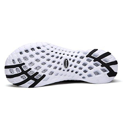 aleader Chaussures de maille antidérapant sur l'eau pour femme Noir