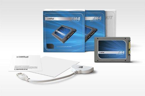 Crucial m4 128GB interne SSD-Festplatte mit Data Transfer Kit (6,4 cm (2,5 Zoll), 256MB Cache, SATA III)